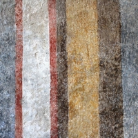 INCREDIBLE FRESCOES OF COLORED STRIPES (XV CENTURY) IN THE MEDIEVAL VILLAGE WHERE THE MODERN POSTAL SERVICE STARTED IN