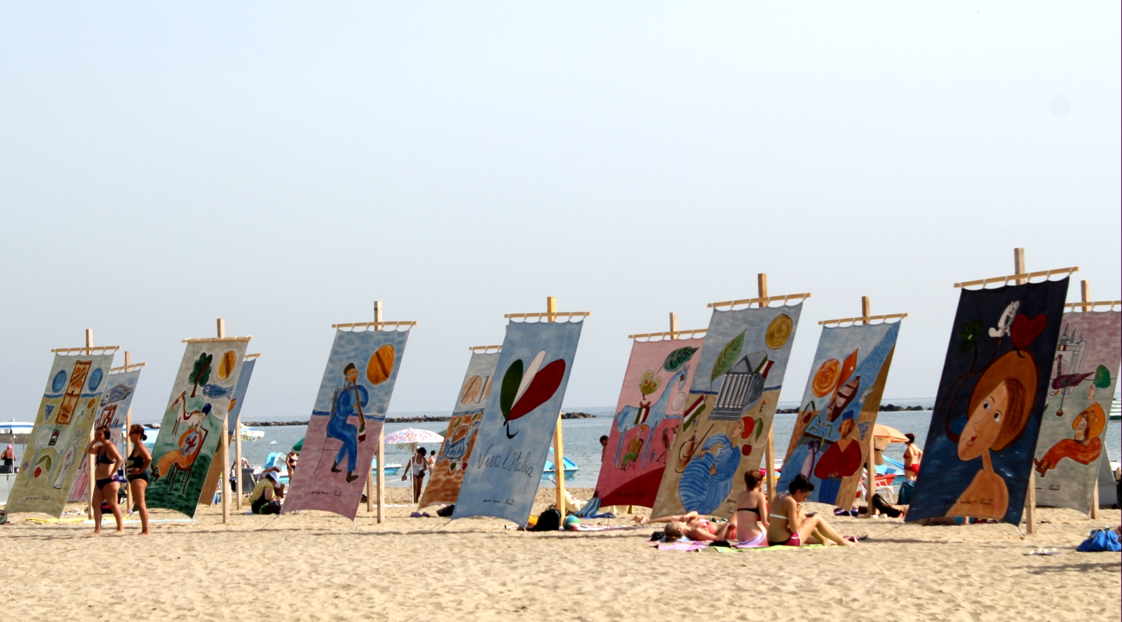"D Art Exhibition Jbr : ""tents at the sea art on beach in cesenatico italy"