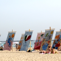 """TENTS AT THE SEA"": ART ON THE BEACH IN CESENATICO (Italy)"