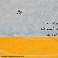 NO CLOUDS: POETIC VERSES BY JOSHUA SELLERS + ONE OF MY IMAGES FROM TORN POSTERS