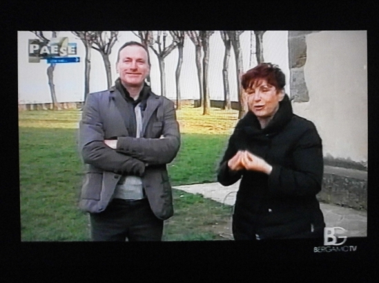 ANCHORWOMAN FRANCESCA MANENTI DURING THE INTERVIEW WITH ROBERTO ALBORGHETTI