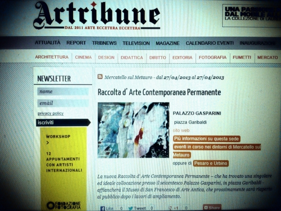 ARTRIBUNE Nuova Raccolta Permanente Arte Contemporanea