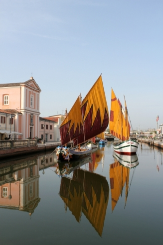 Cesenatico, Italy - Porto Canale designed by Leonardo da Vinci (1502) Photo Roberto Alborghetti