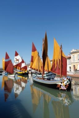 Cesenatico, Italy - Porto Canale designed by Leonardo da Vinci (1508) Photo Roberto Alborghetti