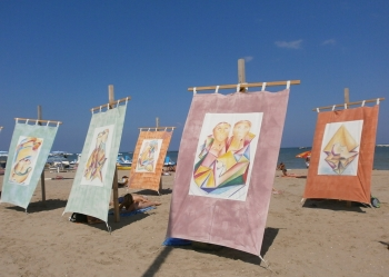 The Beach Is An Art Gallery  Beautiful Sunshelters For The Th Edition Of