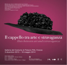 """""""HATS BETWEEN ART AND EXTRAVAGANCE"""" , Palazzo Pitti, Florence, Italy (1)"""
