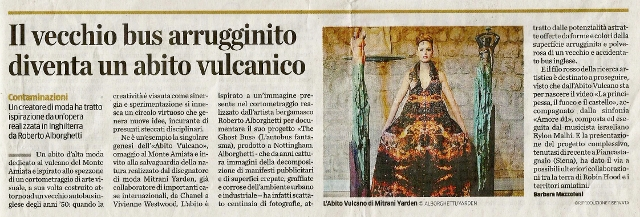 GREAT MEDIA COVERAGE FOR THE GHOST BUS & THE VOLCANO DRESS...