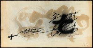 A.Tapies llibre 1983 cm.40,5x76,5 t.mista su carta_0043