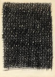 Piero Dorazio Reticolo 1960 cm.76x55 pastello su carta_0031