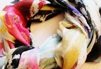 Roberto Alborghetti - Laceractions, Silk scarf, Limited edition (2)
