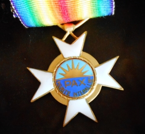 My father received this decoration from Inter-Allied Peace organization.