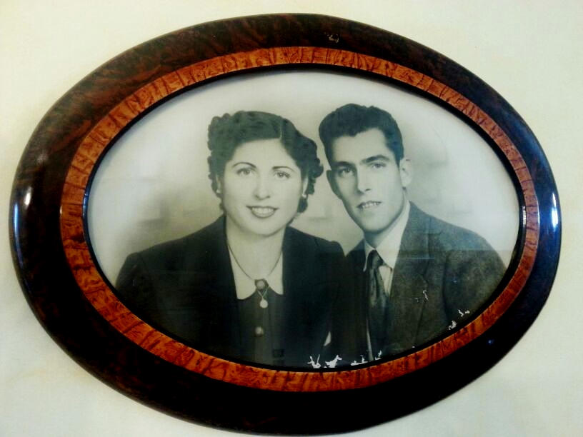 Tina and Battista, in a beautiful picture taken in 1948 at the beginning of their long  journey of love.