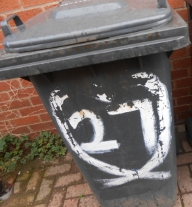 The wastebin displaced along a street in Beeston, Nottingham, UK - Roberto Alborghetti, Lacer/actions 2014