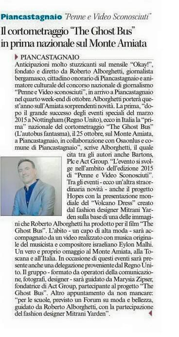 THE GHOST BUS Amiata Corriere Siena