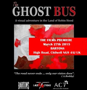 THE GHOST BUS flyer - March 27 - Bartons
