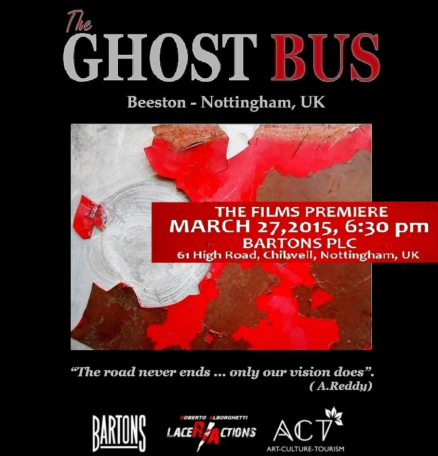 THE GHOST BUS flyer - March 27