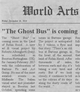 the ghost bus on newspaper