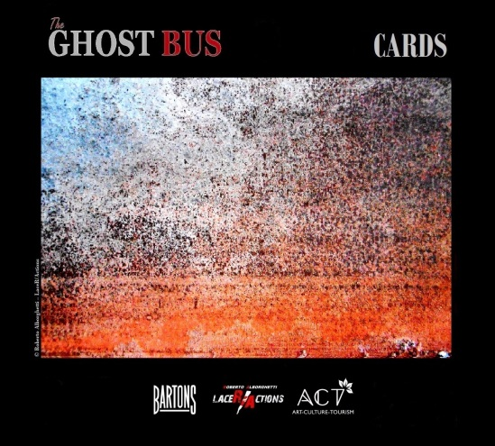 "ROBERTO ALBORGHETTI, THE GHOST BUS, CARD # 5 (""HORIZONS"") FROM THE SHORT FILMS PREMIERED ON MARCH 27, UK , WITH BARTONS PLC AND ACT GROUP."
