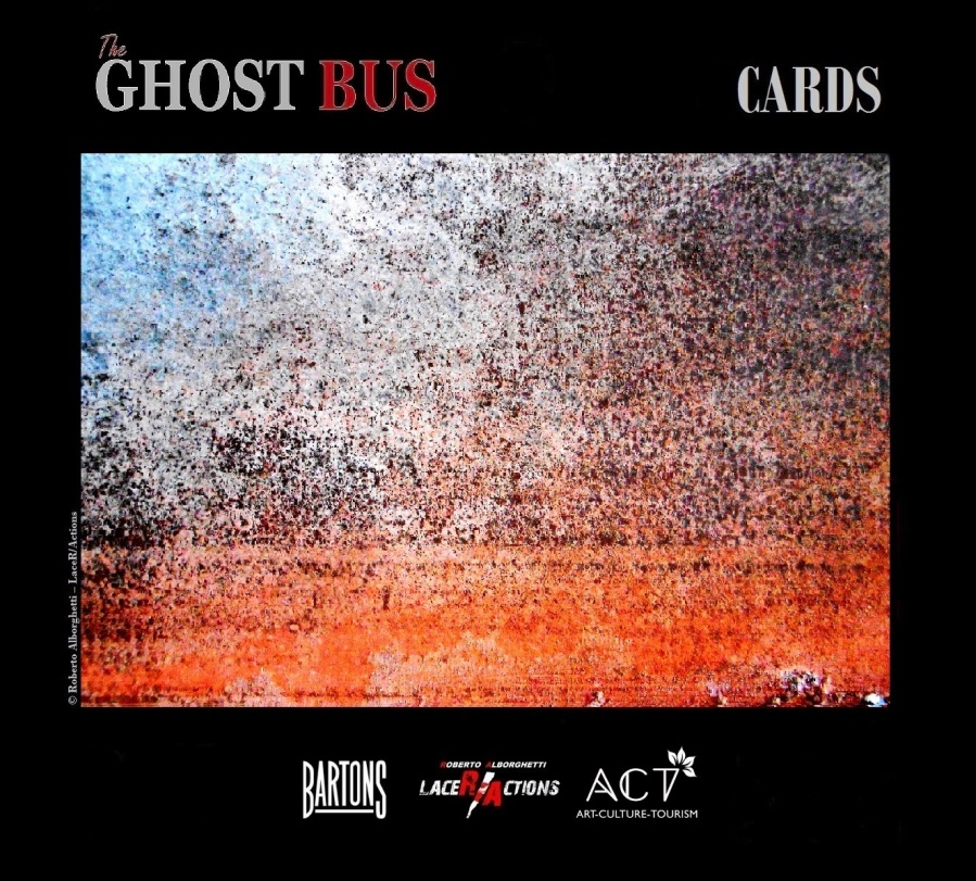 """ROBERTO ALBORGHETTI, THE GHOST BUS, CARD # 5 (""""HORIZONS"""") FROM THE SHORT FILMS PREMIERED ON MARCH 27, UK , WITH BARTONS PLC AND ACT GROUP."""