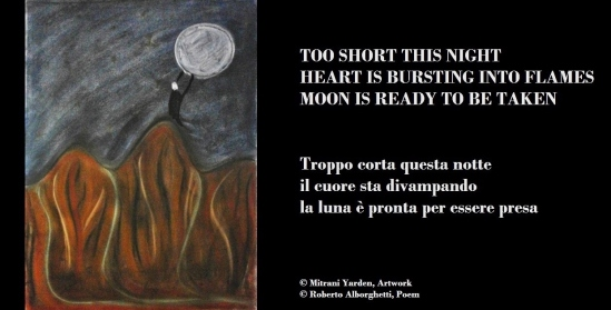 """Moon is ready to be taken"": The Haiku Card by Mitrani Yarden & Roberto Alborghetti, 2015"