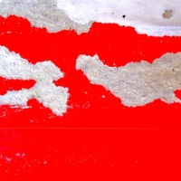 ABSTRACT ON THE STREETS... THEY'RE PHOTOS OF TORN PUBLICITY POSTERS ON OUTDOOR BILLBOARDS...