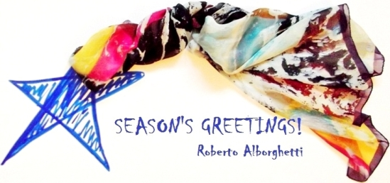 Roberto Alborghetti - Season's Greetings - Limited Edition Silk Scarves