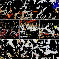 """ABSTRACT ART """"EN PLEIN AIR"""" #4 : SCRATCHES AND CORROSIONS ON A GUTTER"""