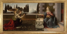 Leonardo da Vinci Annunciazione Inv.1890 N.1618