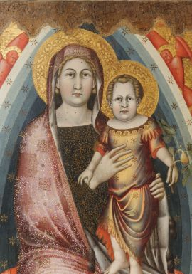 Gubbio 12. Mello, Pala di Agnano, part. Gubbio, Museo Diocesano