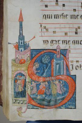 Gubbio 4. Maestro dei Corali di San Pietro, Gli ebrei piangono lungo i fiumi di Babilonia, Gubbio, Archivio di Stato