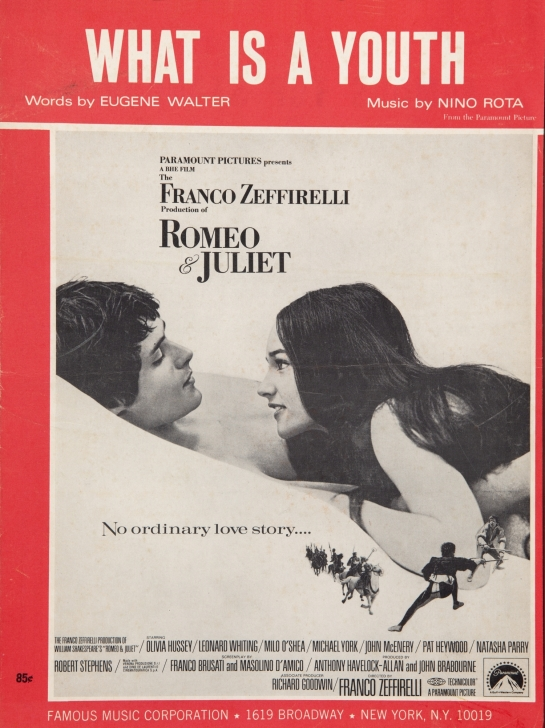 romeo giulietta Copertina partitura originale What is a Youth