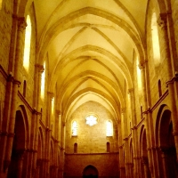 IN THE DIM LIGHT OF CASAMARI ABBEY  (ITALY) HIGH EXPRESSION OF MONASTIC GOTHIC ARCHITECTURE