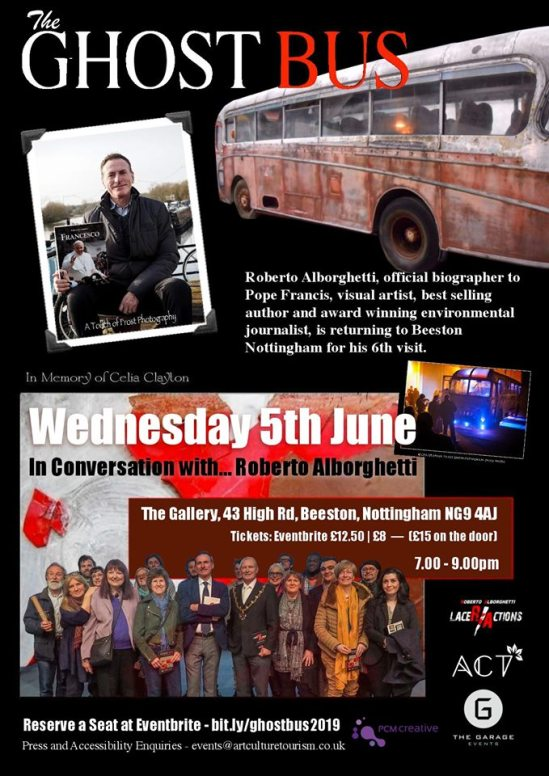 "A SPECIAL ""GHOST BUS"" EVENT AT THE GALLERY (WED  JUNE 5) IN"