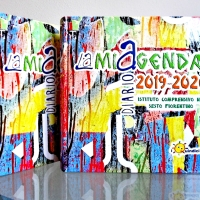"THE NEW ""LAMIAGENDA""! THE COVER REPRODUCES MY ARTWORK MADE WITH WASTE PAPER"