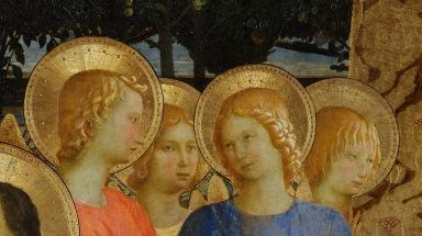 Beato Angelico, Pala di San Marco, particolare degli angeli