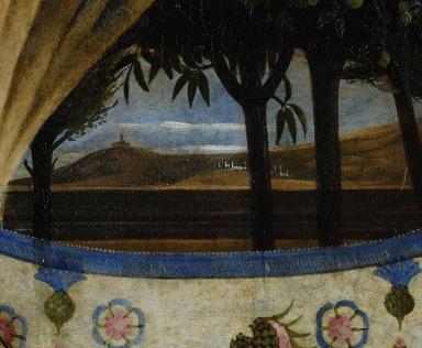 Beato Angelico, Pala di San Marco, particolare del paesaggio a destra