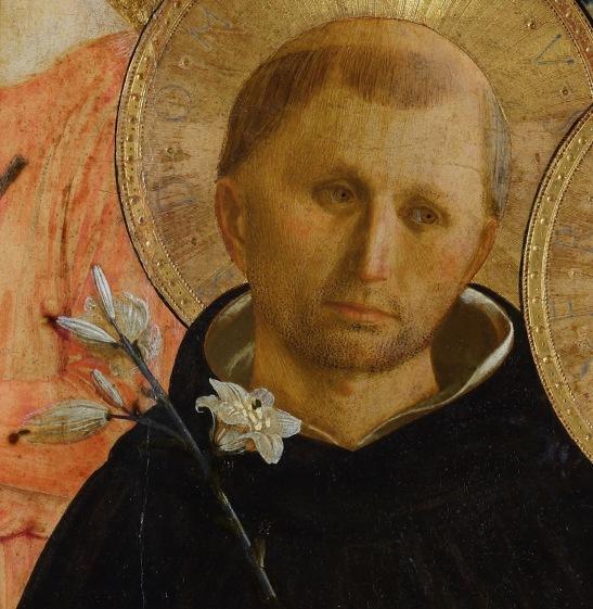 Beato Angelico, Pala di San Marco, particolare di San Domenico