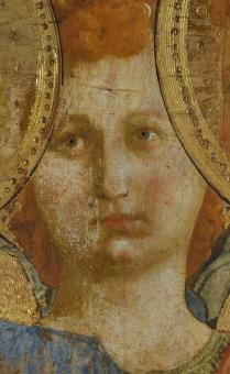 Beato Angelico, Pala di San Marco, particolare, durante il restauro