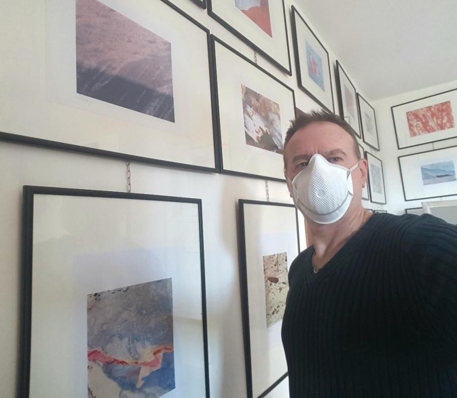 Roberto Alborghetti with mask