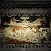 "SIENA CATHEDRAL SHOWS  ""THE MOST BEAUTIFUL  MARBLE INTARSIA FLOOR OF THE WORLD"""