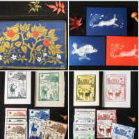FROM NOTTINGHAM  (UK) HANDCRAFTED COLLECTION OF LINOCUT CARDS AND PRINTS