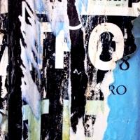 BROKEN WORDS #4 / TORN PUBLICITY POSTERS ON OUTDOOR BILLBOARDS