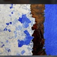MACRO PHOTOGRAPHY OF CRACKS ON DECOMPOSED CERAMICS (IMAGES TAKEN IN VIETRI, ITALY)